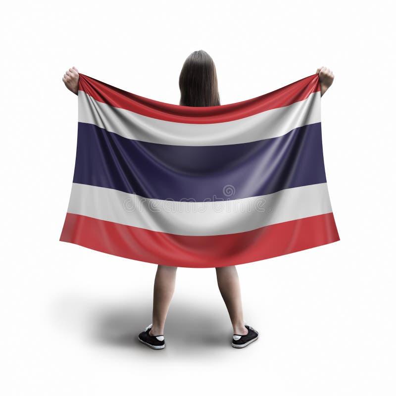 Women and Thai flag royalty free illustration