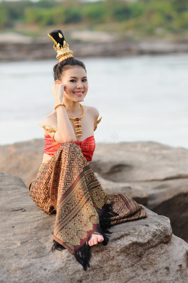 Women in Thai suit royalty free stock images