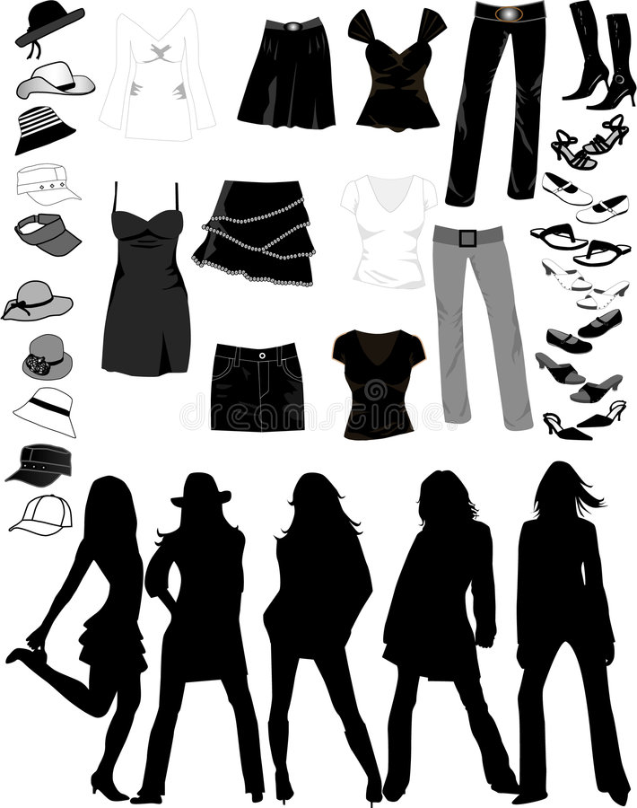 Women Things. Vectors work, jpg , eps royalty free illustration