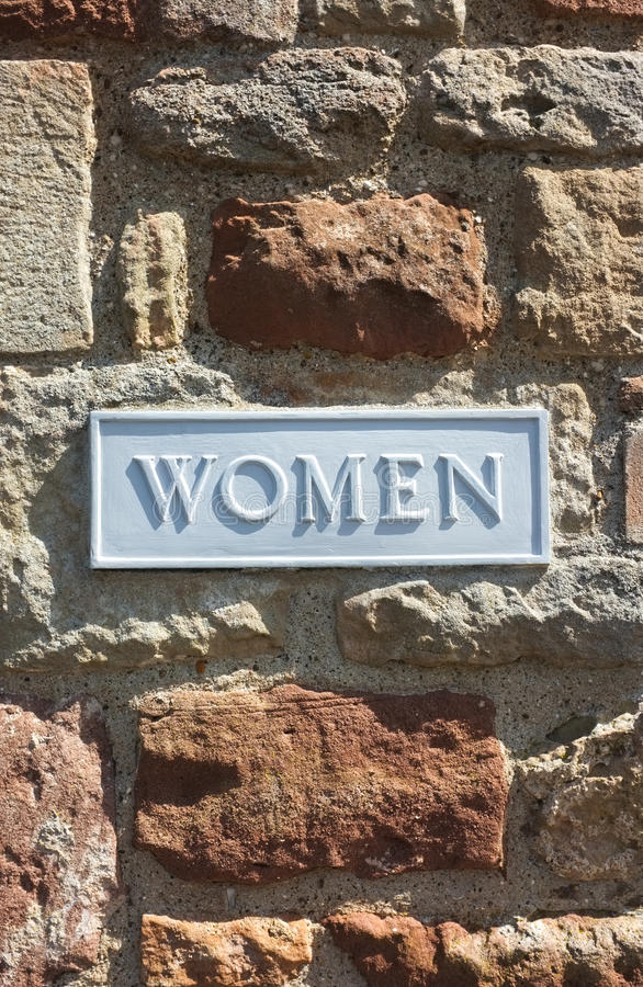 Download Women Toilet Bathroom Sign On Brick Wall Stock Image - Image: 30950207