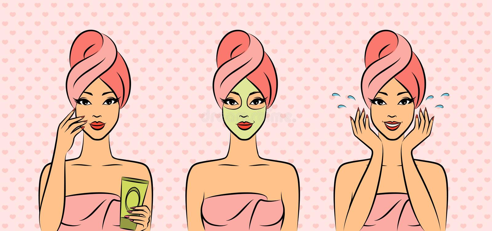 Women In A Towel After A Shower Royalty Free Stock Image
