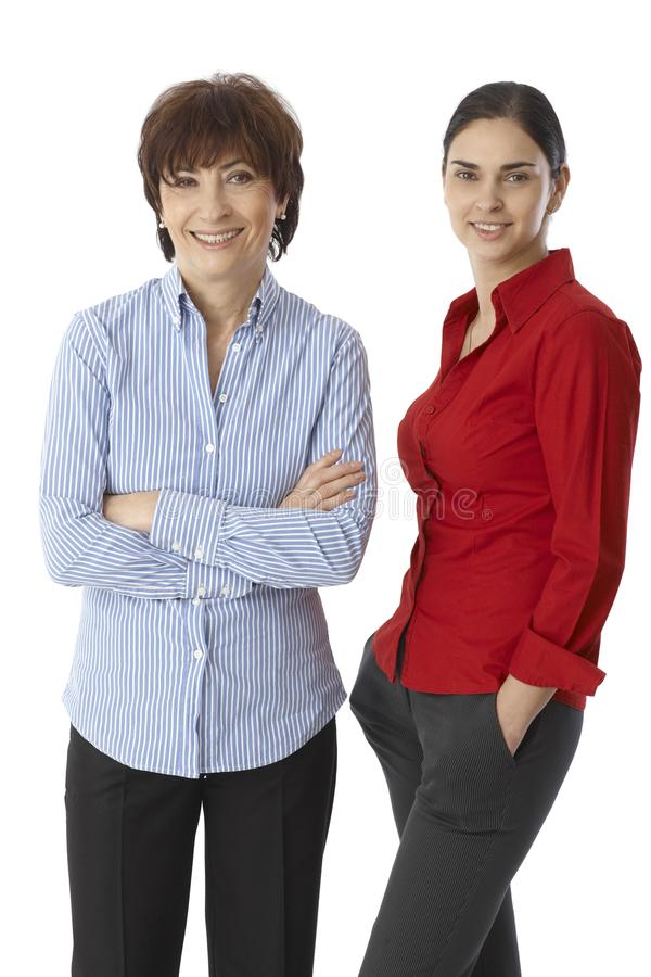 Women of two generations stock images