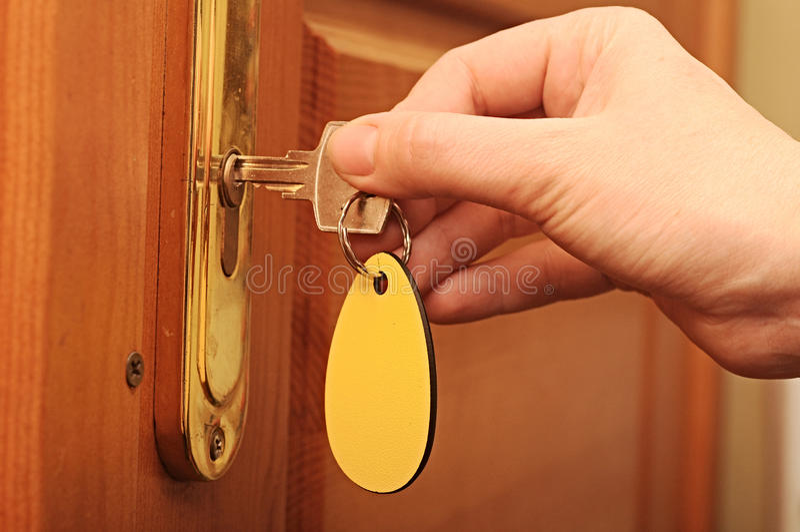 Women Are Unlocked Door Royalty Free Stock Photo