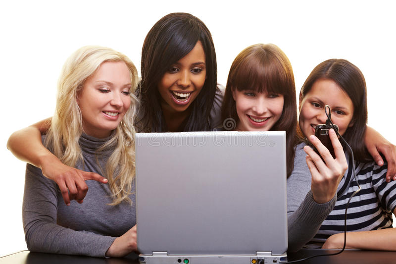 Download Women uploading images stock photo. Image of internet - 14862104