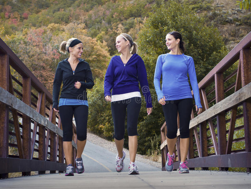 Women Walking Together royalty free stock images