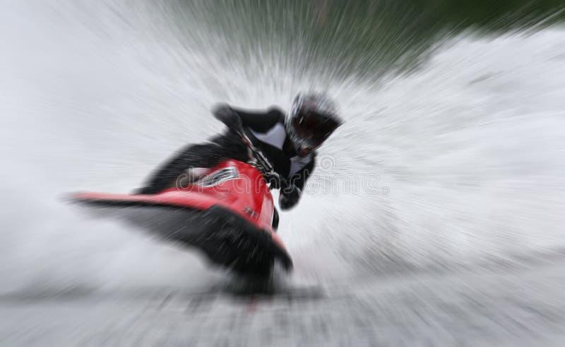 Women Watercraft Racing zoom royalty free stock image