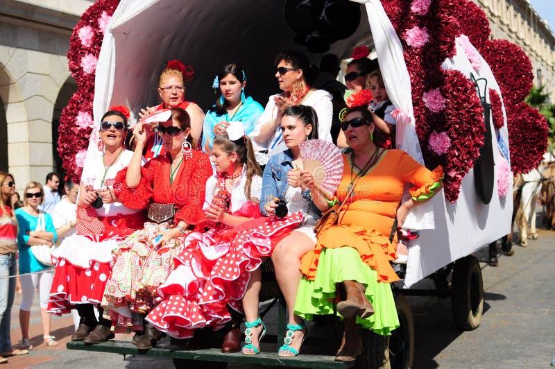 Download Women  The Way To Of El Rocio Editorial Stock Photo - Image of person, pilgrim: 24955393