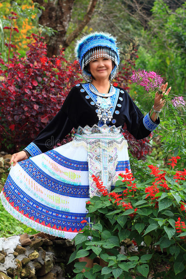 Women wear hill tribe costume royalty free stock photos