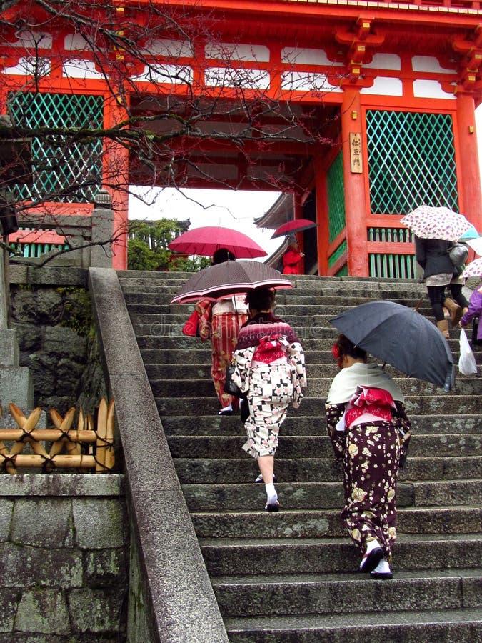 Download Women Wearing Kimono At Japanese Temple Editorial Stock Photo - Image: 27748723