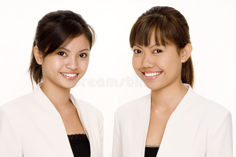 Women In White 1 royalty free stock photography