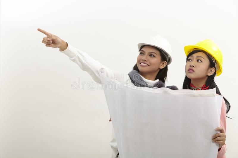 Women at work royalty free stock photography