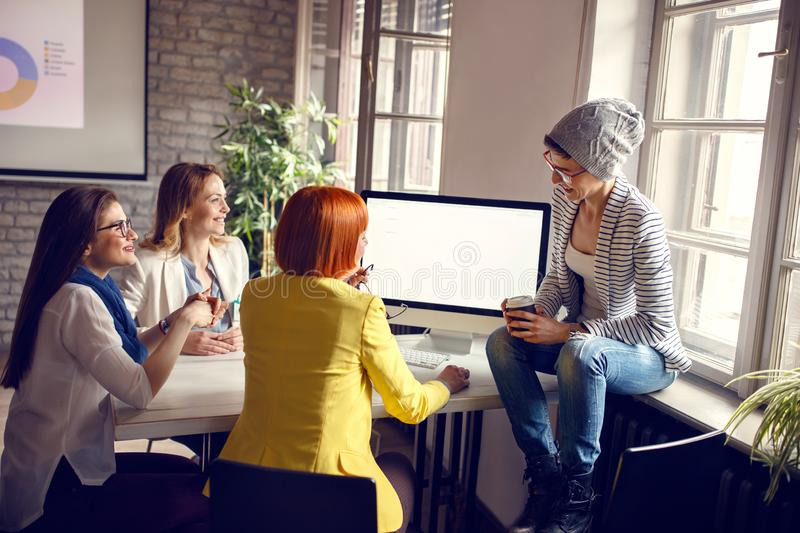 Women at work in office royalty free stock images