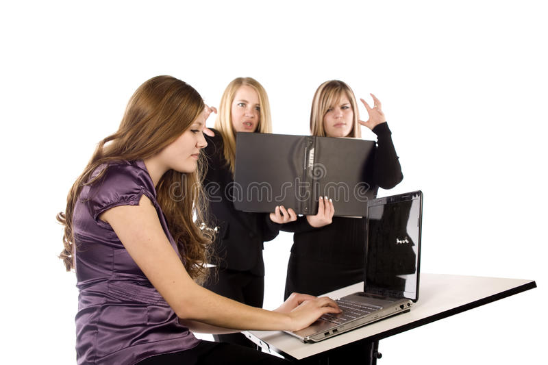 Download Women working and angry stock photo. Image of business - 12199058