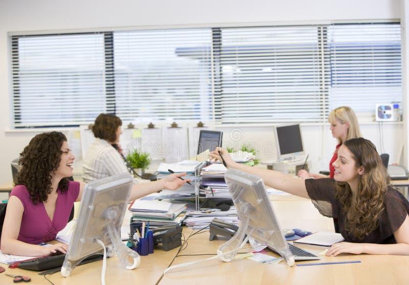 Women working in an office stock photo