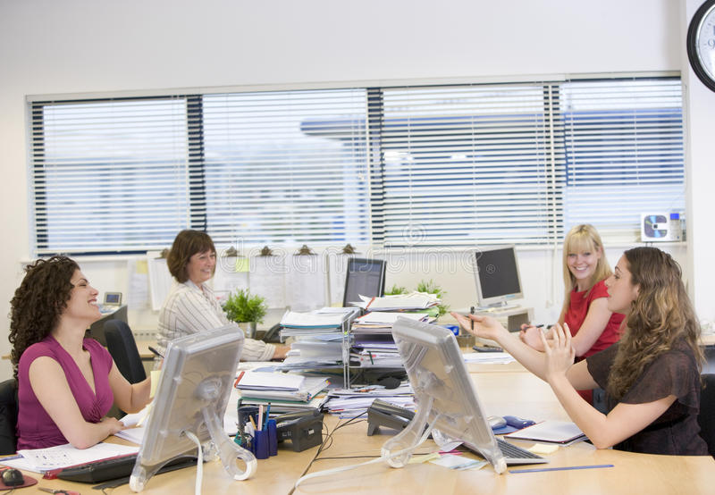 Women working in an office royalty free stock image
