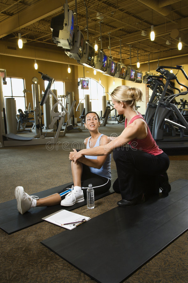 Women working out. stock images