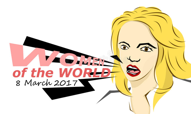 Women of the world 2017 royalty free stock photography
