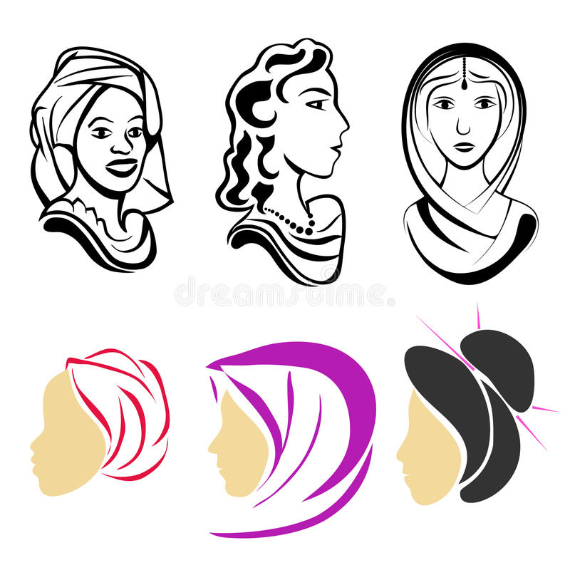 Women in world. royalty free stock images