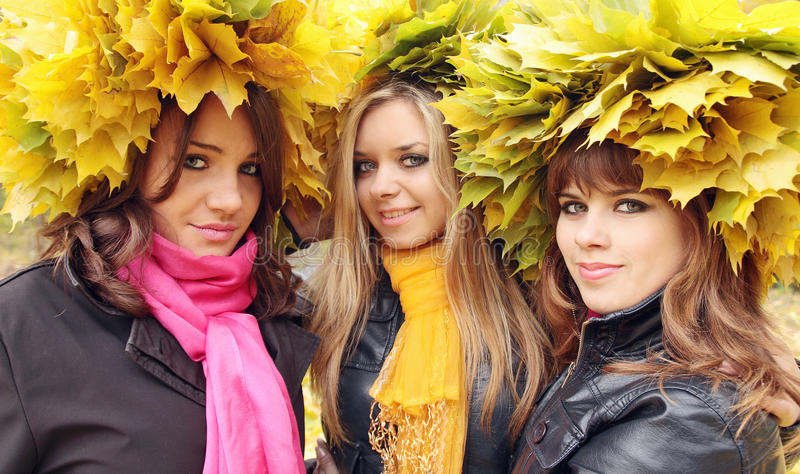 Download Women in the wreaths stock photo. Image of color, outdoors - 21054324