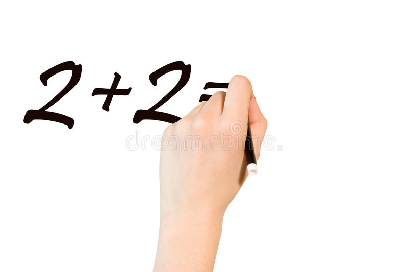 Download Women Writing A Maths Operation Stock Photo - Image: 14677680