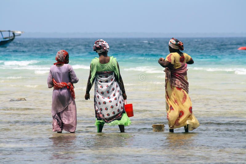 Women in Zanzibar royalty free stock image