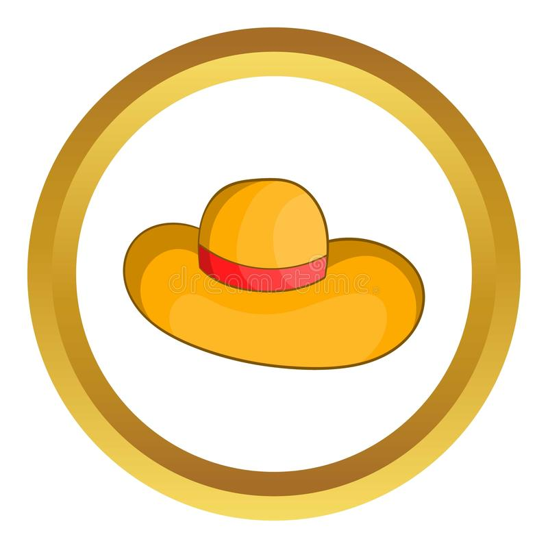 Womens beach hat vector icon royalty free illustration