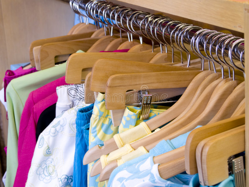 Womens Colorful Shirts Royalty Free Stock Photography