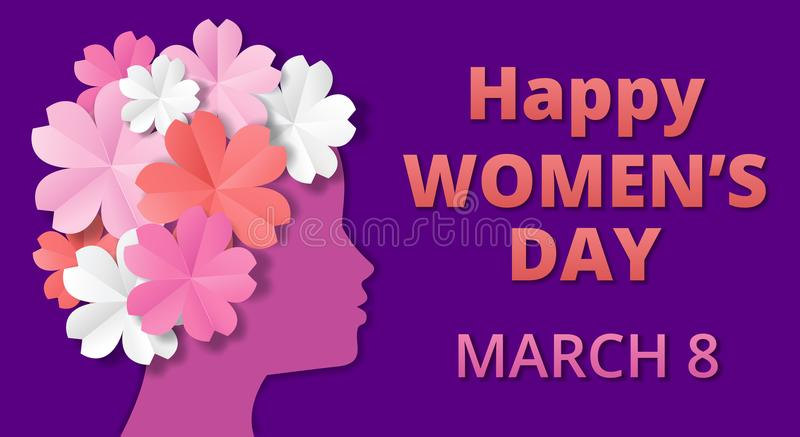 Womens Day origami stock illustration