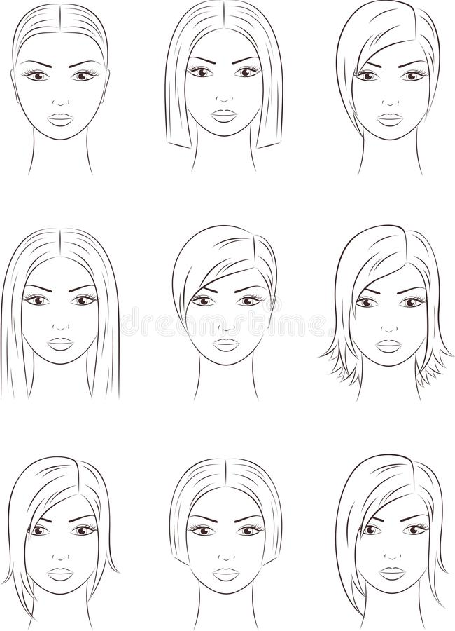 Download Womens faces stock vector. Image of drawing, icon, cosmetology - 31683663