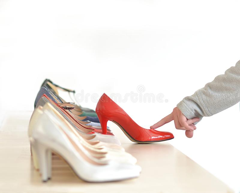 womens footwear store royalty free stock photography