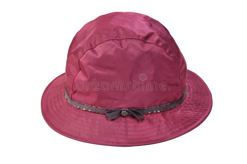 Womens hat isolated on white background. Female hat isolated on white background royalty free stock images