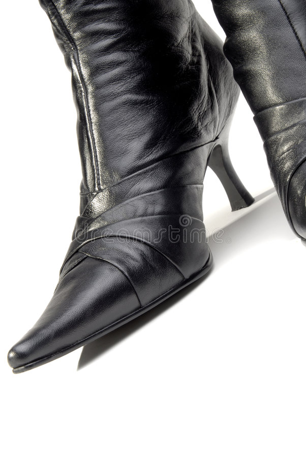 Womens Leather Boots royalty free stock photo