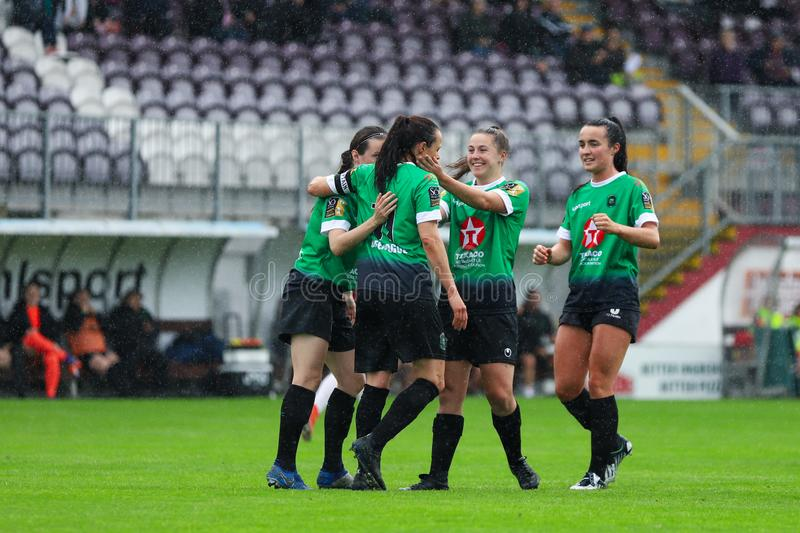 Womens National League game: Galway WFC vs Peamount United stock photos