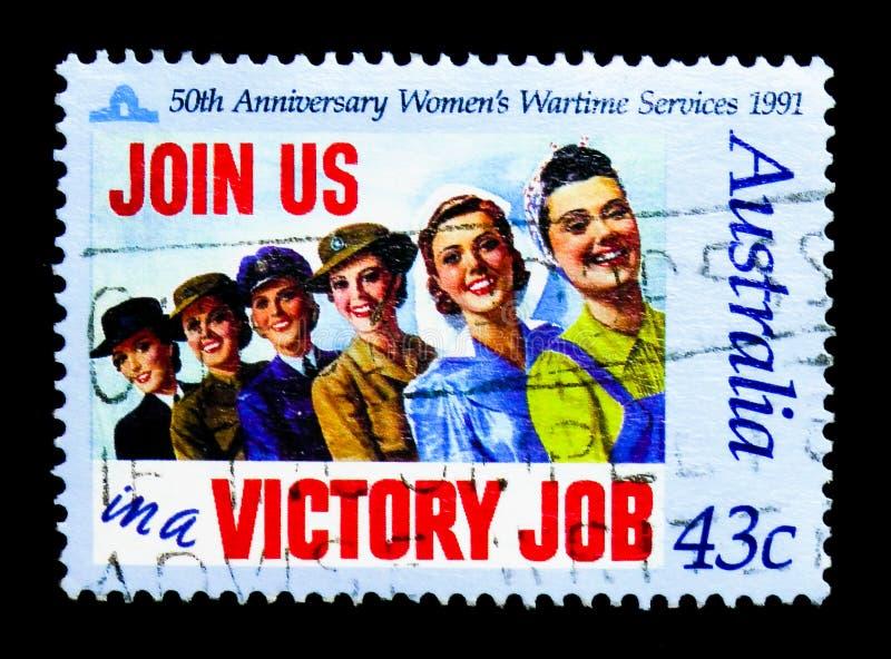 Womens Services, Anzac serie, circa 1991 stock image