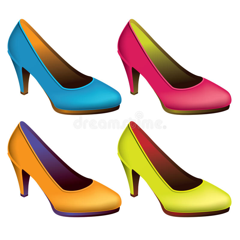 Womens shoes stock illustration