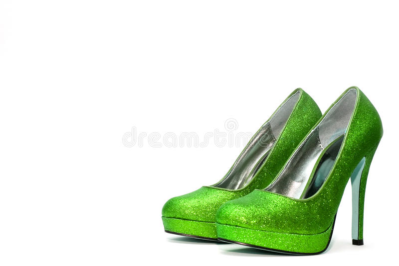 Womens sparkly high heels royalty free stock image