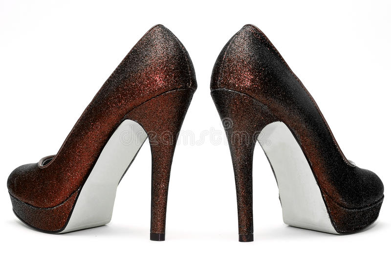 Womens sparkly high heels royalty free stock photo