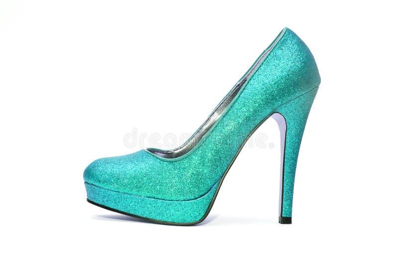 Womens sparkly high heels stock photos