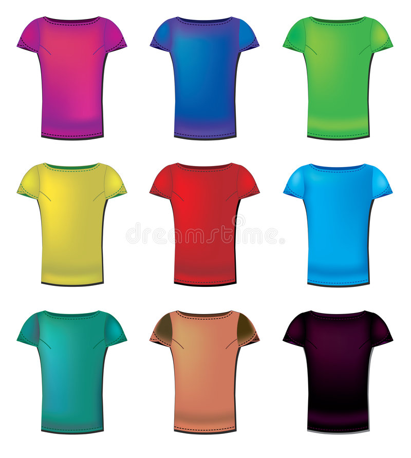 Download Womens t-shirts stock vector. Illustration of neck, cloth - 8656856