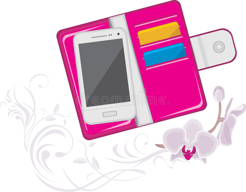 Womens trendy pink purse stock images