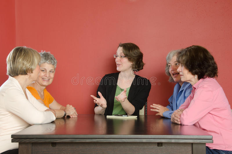 Download Womens Workgroup Discussion Stock Image - Image of psychologist, older: 20608403