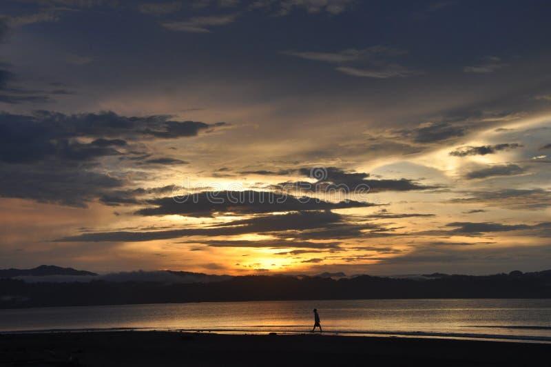 Wondama plaży zmierzch 3 zdjęcie royalty free