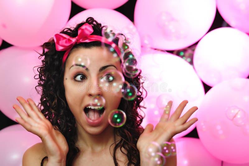 Download Wonder girl stock image. Image of pink, ribbon, hairstyle - 24911185