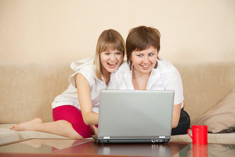 Download Wonder Girls Looking To Laptop Stock Photo - Image: 20118992