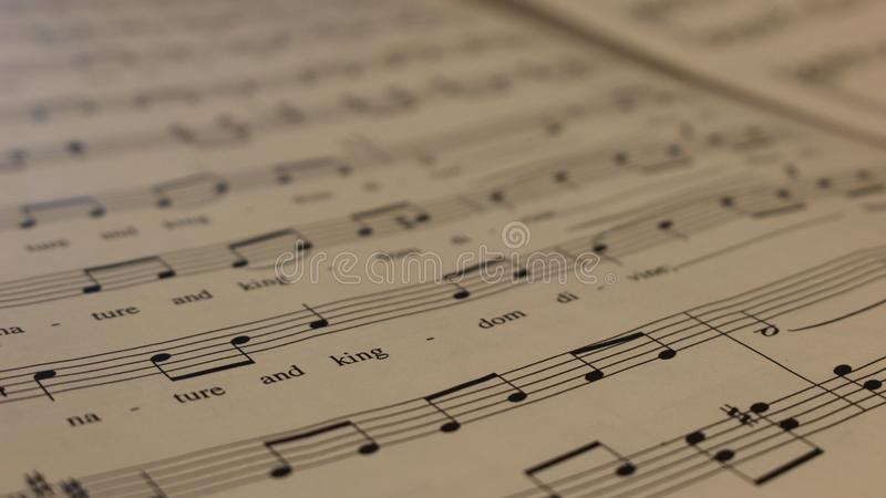 Wonder of Notes stock photography