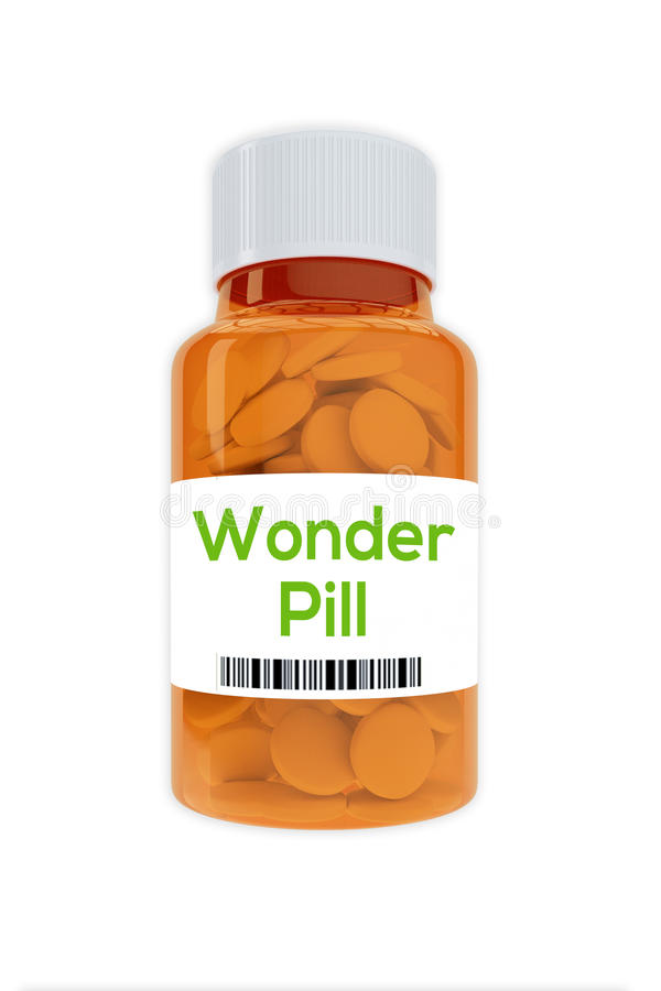 Wonder Pill concept royalty free stock photography