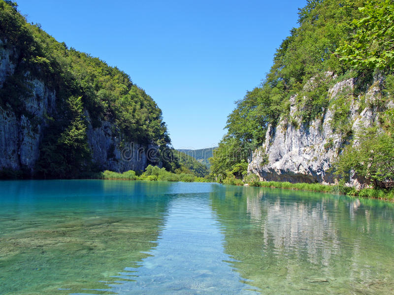 The wonder of Plitvice royalty free stock images