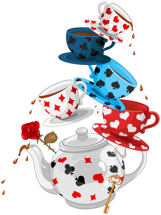 Wonder Tea Party Pyramid stock illustration