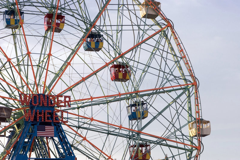 Wonder Wheel at the Coney Island Astroland Park royalty free stock photography
