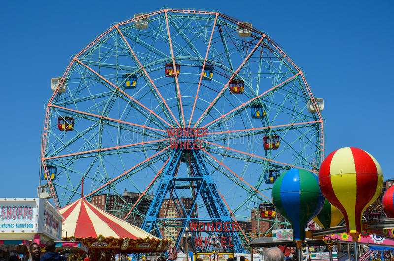 Wonder Wheel ferris wheel at Coney Island stock image